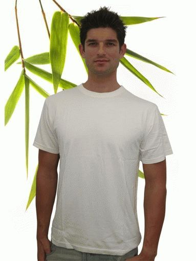Mens bamboo short sleeve t shirt bambu dru m1001 for Bamboo fiber t shirt
