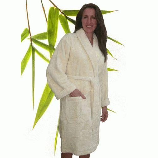 Bamboo Luxury Adult Bathrobe - Small Natural 411c03918