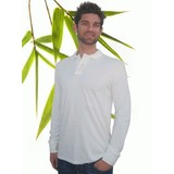 Mens Bamboo Long Sleeve Polo Shirt