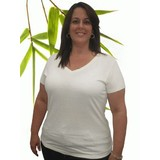 Womens Extra Large V-Neck Bamboo Hemp T Shirt