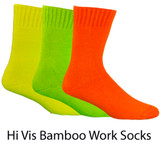 Bamboo Extra Thick Work Socks Hi Vis