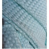 Bamboo Knitted Baby Blanket Mint or Siver