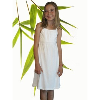 Girls Bamboo & Organic Cotton Tank Dress - XL 11/12 Natural