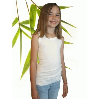 Girls Bamboo & Organic Cotton Tank Top - L 9/10 Natural