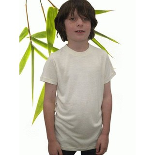 Boys Bamboo & Hemp T-Shirt - XL 11/12 Natural