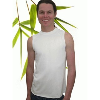 Boys Bamboo Muscle T-Shirt - M 7/8 Natural