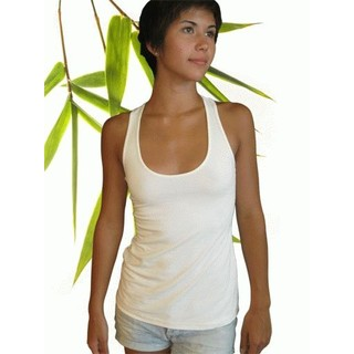 Womens Bamboo Racer Back Tank Top - X-Large Natural