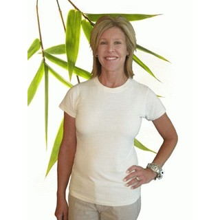 Womens Bamboo & Hemp Short Sleeve Tshirt - XXLarge Natural