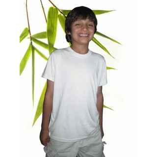 Boys Bamboo Short Sleeve T-Shirt - XL-11/12 Natural