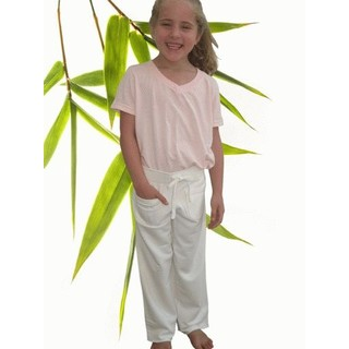 Girls Bamboo Lounge Pant - XL-11/12 Natural