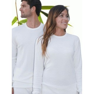 Adult Bamboo Long Sleeve Thermal - XSmall Natural