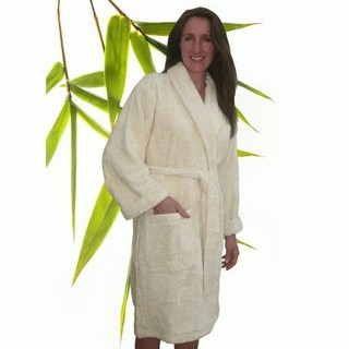 Bamboo Luxury Adult Bathrobe - Small Natural