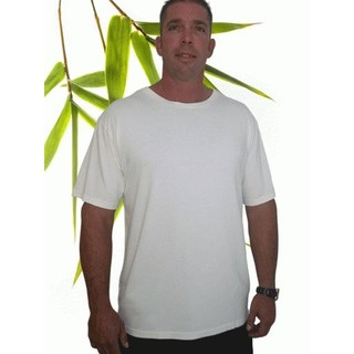 Men's Extra Large Bamboo Short Sleeve T Shirt - XXXL Natural