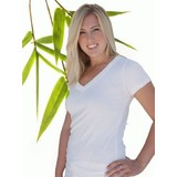 Womens Bamboo Tshirt V neck